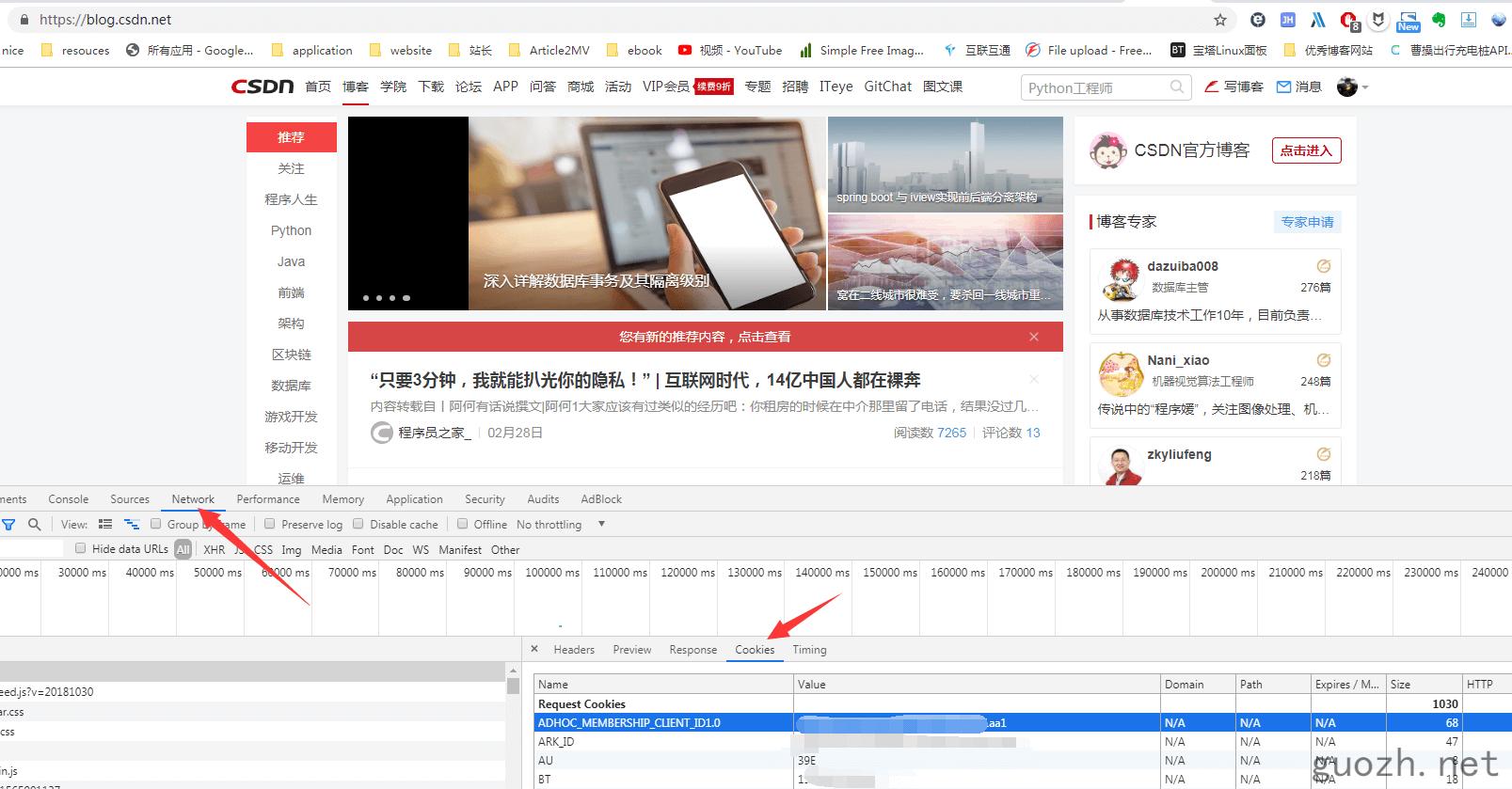 《Puppeteer cookie 使用,免登录 CSDN 简书 掘金》