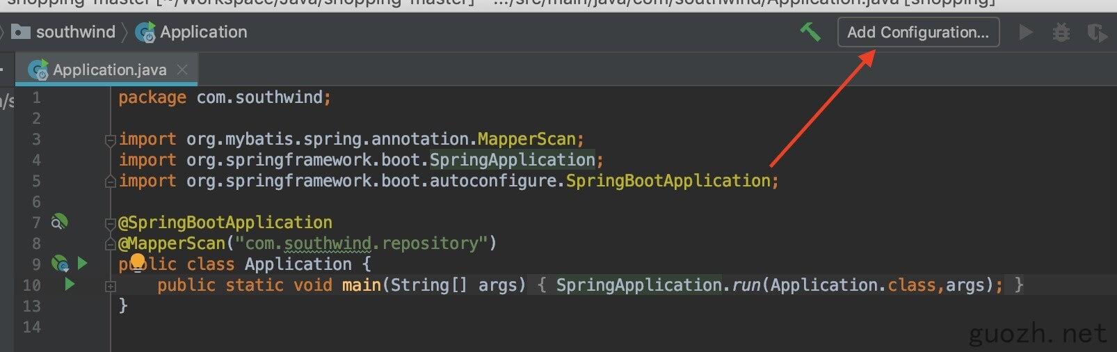 《IDEA 导入 Spring boot 项目,不能启动, XxxApplication 图标不显示》