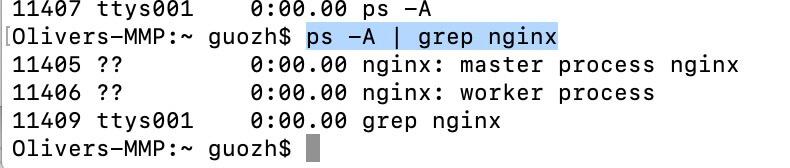 《macOS 上安装 Nginx,基本命令使用》