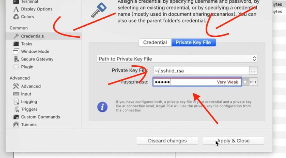 《Royal TSX SSH 密钥文件登录远程服务器,macOS上替代 xshell 的软件客户端》